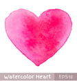 Pink Watercolor Heart vector image