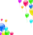 Set colourful flying balloons for your party vector image vector image