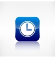 Clock web icon Application button vector image