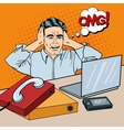 Stressed Businessman on the Office Pop Art vector image vector image