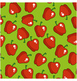 apple fruits pattern background vector image