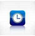 Clock web icon Application button vector image