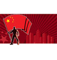 Flag Bearer China Background vector image