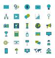 icon set digital marketing vector image