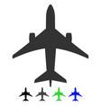 jet plane flat icon vector image