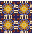 Round flowers digital background pattern vector image