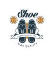 shoe shop premium and high quality logo design vector image