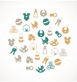 Babies icons vector image