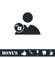 Person lock icon flat vector image