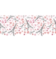 Eifel Tower Paris Seamless Repeat Pattern vector image