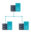 Server Network Icon vector image vector image