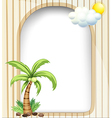 An empty template with a coconut tree vector image