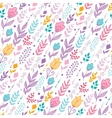 Tulip flowers seamless pattern background vector image vector image