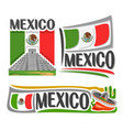 logo for mexico vector image