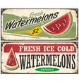 watermelons retro advertisement vector image vector image
