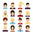 People avatar set vector image