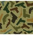 Guns seamless pattern vector image