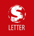 logo letter S in the form of a stamp vector image vector image