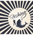 logo sport fishing vector image