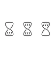 Hourglass wait set icons vector image