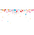 Banner with color confetti vector image