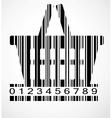 Barcode shoping cart image vector image