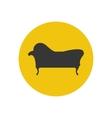 Chaise lounge armchair seat silhouette vector image