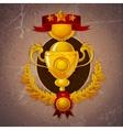 Golden Trophy Background vector image