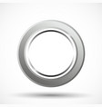 metal ring isolated vector image