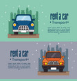 rent a car infographic vector image