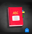 top view of school notebook vector image