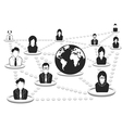 business people network vector image