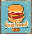 retro cheeseburger vector image vector image