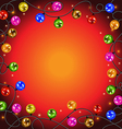 garland with colorful balls and lights vector image