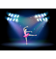 A woman dancing ballet with spotlights vector image
