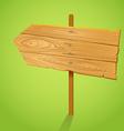 Blank Wood arrow informer vector image