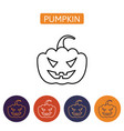 Halloween pumpkin icon isolated on white vector image