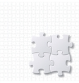 puzzles blank template vector image vector image