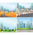 City scenes vector image vector image