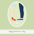 Vintage Valentine Day greeting card for gift vector image