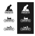 Carpentry vintage labels set Carpenter emblems vector image