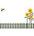 background fence and bumblebee vector image