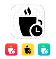 Coffe cup with Time icon vector image