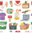 donate money set outline icons help symbols vector image