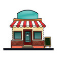 drawing store market business shop building vector image