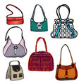 handbags fashion bag set female purse accessory vector image