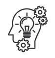 head with lampidea generation line icon vector image