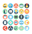 Project Management Colored Icons 4 vector image