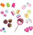 Scattered sweet candies vector image