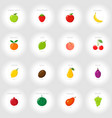 set of cartoon icons fresh fruits abstract vector image